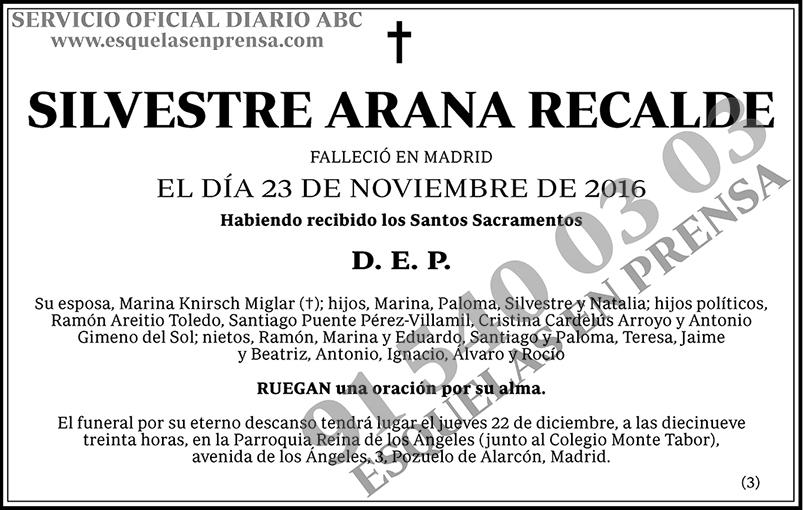 Silvestre Arana Recalde